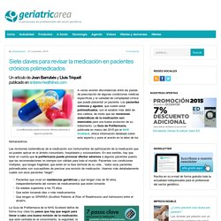 Siete claves para revisar la medicación en pacientes crónicos polimedicados
