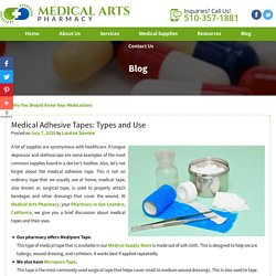 Medical Adhesive Tapes: Types and Use
