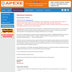 Apexe - Direct Medical Admission 2015