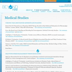 Medical Study Archive - Beyond RestBeyond Rest