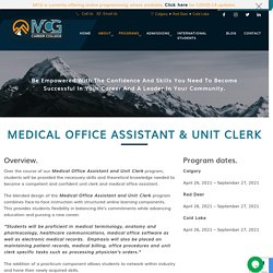 Medical Office Assistant & Unit Clerk - MCG Career College