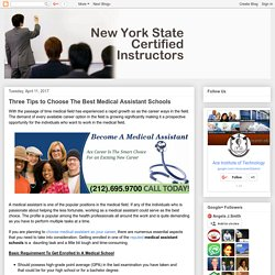 Ace Institute Of Technology: Three Tips to Choose The Best Medical Assistant Schools