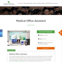 Medical Office Assistant Course in Toronto