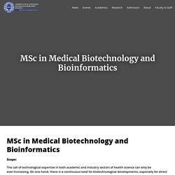 Best MSc Medical Biotechnology Colleges in Kolkata, India
