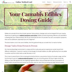 Online Medical Card - Your Cannabis Edibles Dosing Guide
