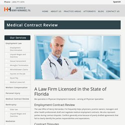 Medical Contract Review - Top Attorney in Florida