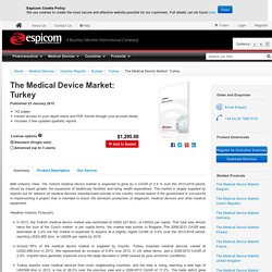 The Medical Device Market: Turkey