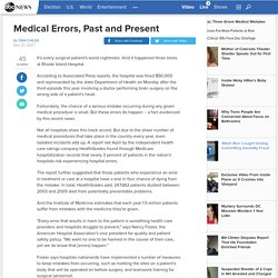Medical Errors, Past and Present