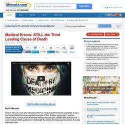 Medical Errors - The Third Leading Cause of Death