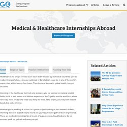 Medical & Healthcare Internships Abroad