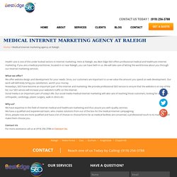 Medical internet marketing agency at Raleigh