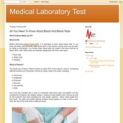 Medical Laboratory Test: All You Need To Know About Blood And Blood Tests