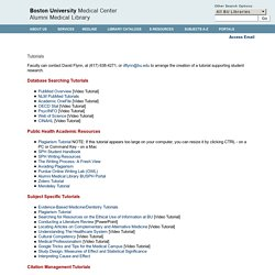 Alumni Medical Library: Online Tutorials