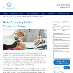 Medical Malpractice Lawyer in Hawaii