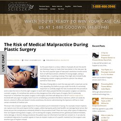 The Risk of Medical Malpractice During Plastic Surgery
