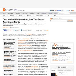 Get a Medical Marijuana Card, Lose Your Second Amendment Rights