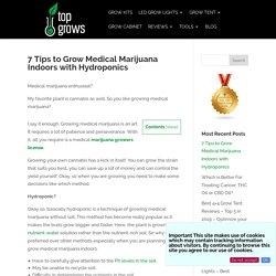 7 Tips to Grow Medical Marijuana Indoors with Hydroponics