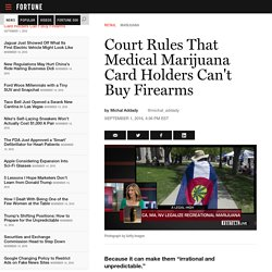Medical Marijuana and Gun Laws Collide