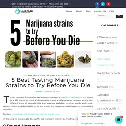 Use Your Medical Marijuana Card to Buy These Best Strains
