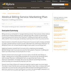Medical Billing Service Sample Marketing Plan - Executive Summary