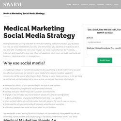 Medical Marketing Social Media Strategy