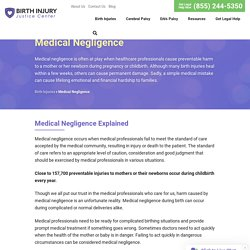 Medical Negligence - Birth Injuries Caused by Negligence