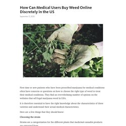 How Can Medical Users Buy Weed Online Discretely in the US