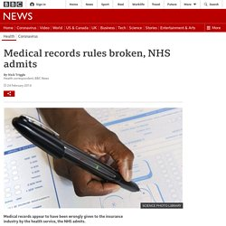 Medical records rules broken, NHS admits