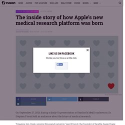 The inside story of how Apple's new medical research platform was born