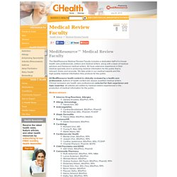 Medical Review Faculty - C-Health