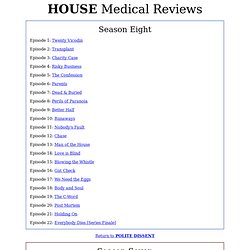 Medical Reviews of House