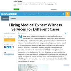 Hiring Medical Expert Witness Services For Different Cases