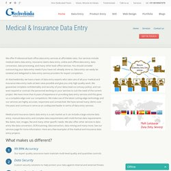 Insurance Data Entry Company