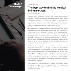 The best way to find the medical billing services.