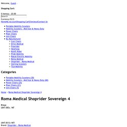 Roma Medical Shoprider Sovereign 4