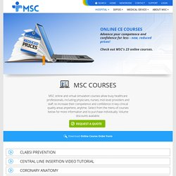 MSC - Medical Simulation Courses Online