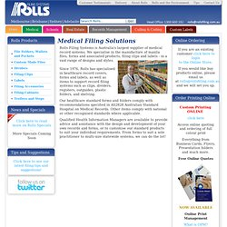 Medical Filing Solutions - Rolls Filing Systems