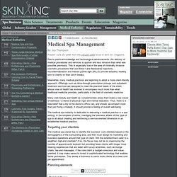 Medical Spa Management