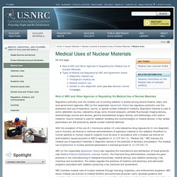 Medical Uses of Nuclear Materials