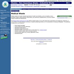 Medical Waste definition