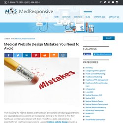 Medical Website Design Mistakes You Need to Avoid