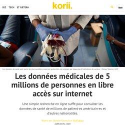Les données médicales de 5 millions de personnes en libre accès sur internet