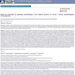 Cahiers d'études et de recherches francophones / Santé . Volume 20, Numéro 4, 201-8, octobre-novembre-décembre 2010, Étude origi