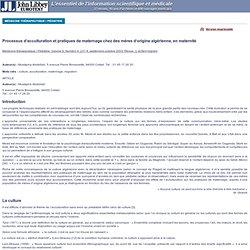 John Libbey Eurotext : Éditions médicales et scientifiques France : revues, médicales, scientifiques, médecine, santé, livres - Texte intégral de l'article