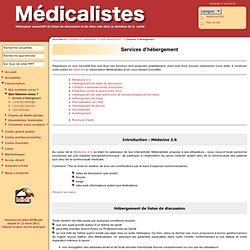 ☞ Médicalistes ☞ Services d'hébergement ☞