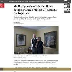 Medically assisted death allows couple married almost 73 years to die together