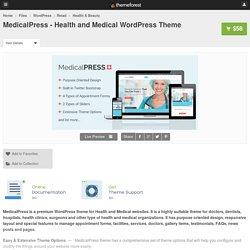 MedicalPress - Health and Medical WordPress Theme - WordPress