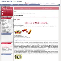 Médicament - Aliments et Médicaments. - Détail
