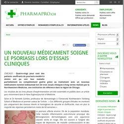 Un nouveau médicament soigne le psoriasis lors d'essais cliniques
