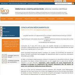 Conciliation médicamenteuse - Fédération de l'Hospitalisation Privée
